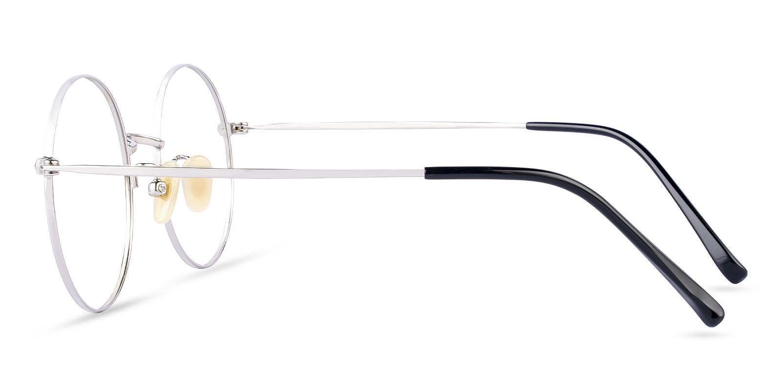Zoe Silver Titanium Eyeglasses , Lightweight , NosePads Frames from ABBE Glasses