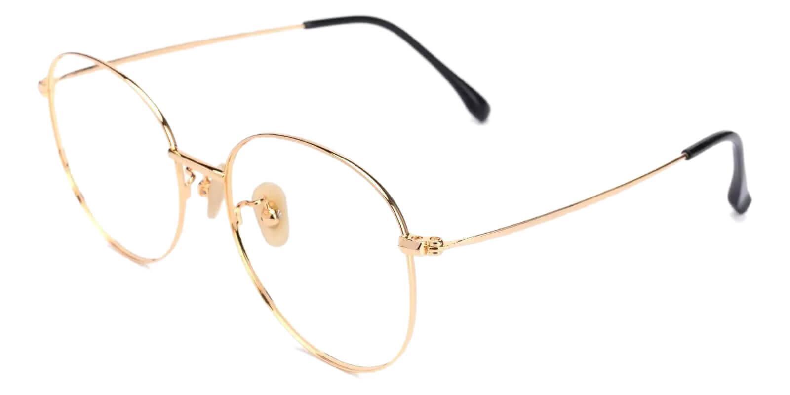 Mongolia Gold Titanium Eyeglasses , Lightweight , NosePads Frames from ABBE Glasses