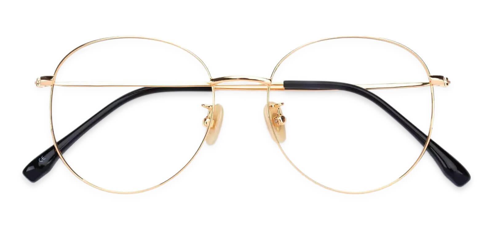 Mongolia Gold Titanium Lightweight , NosePads , Eyeglasses Frames from ABBE Glasses