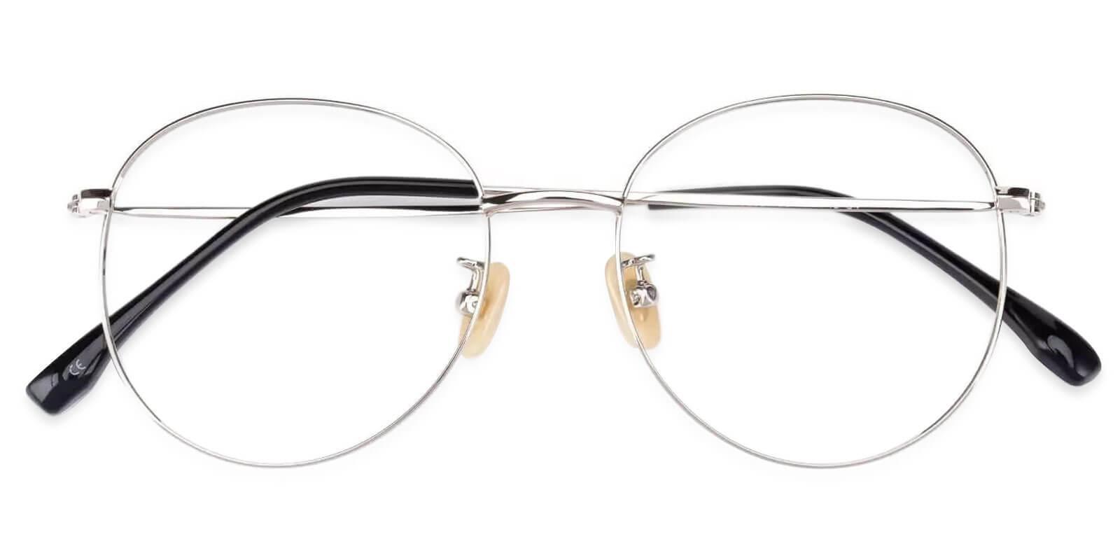 Mongolia Silver Titanium Eyeglasses , Lightweight , NosePads Frames from ABBE Glasses