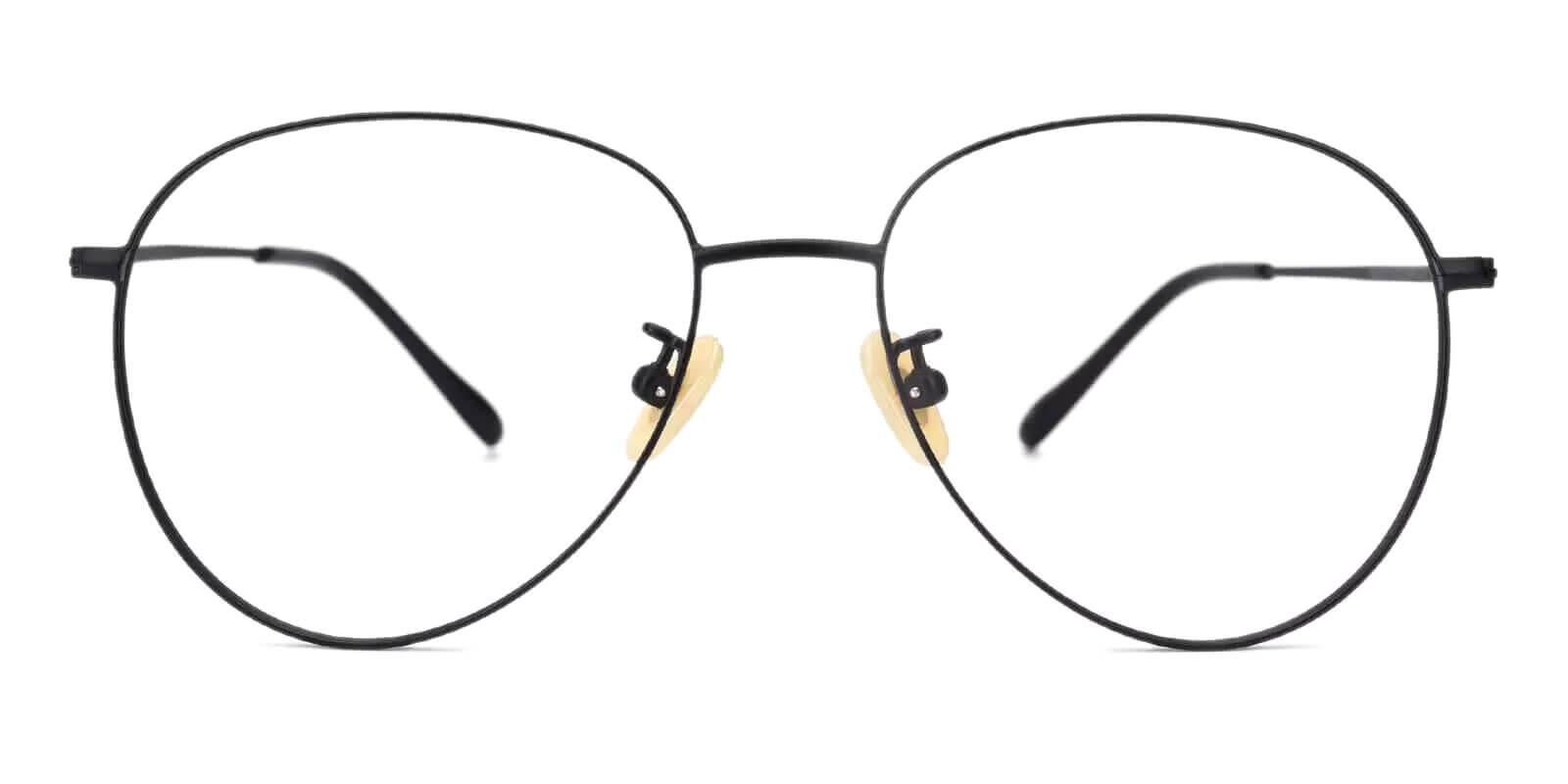 Nepal Black Titanium Eyeglasses , Lightweight , NosePads Frames from ABBE Glasses