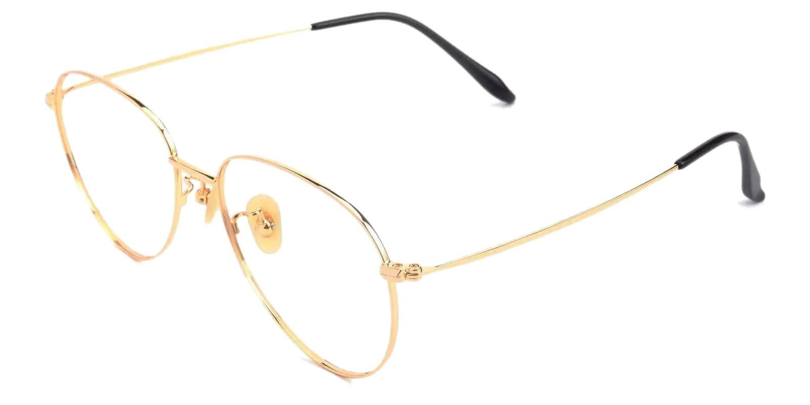 Nepal Gold Titanium Lightweight , NosePads , Eyeglasses Frames from ABBE Glasses