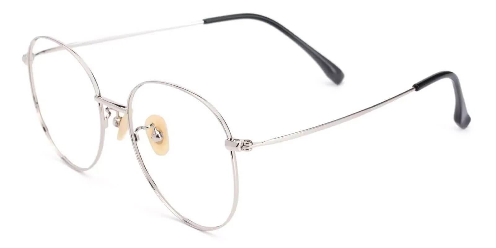 Nepal Silver Titanium Eyeglasses , Lightweight , NosePads Frames from ABBE Glasses
