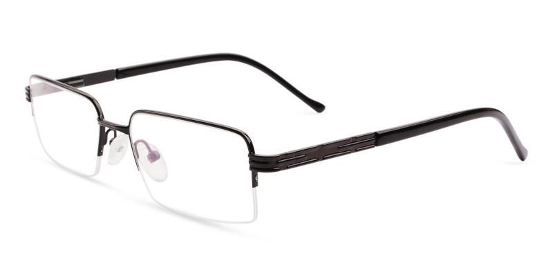 Black Nicaragua - Metal NosePads , SpringHinges , Eyeglasses