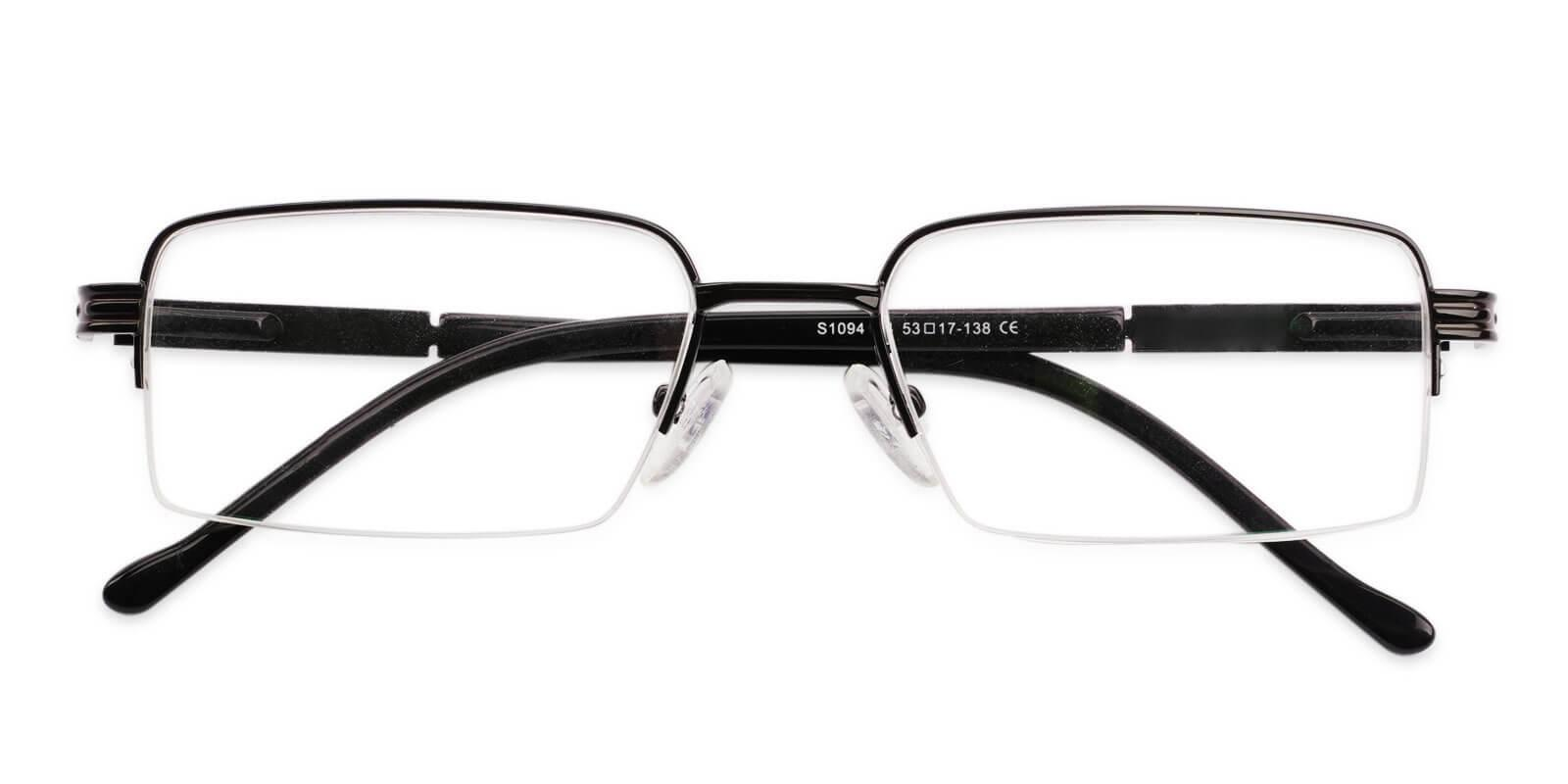 Nicaragua Black Metal NosePads , SpringHinges , Eyeglasses Frames from ABBE Glasses