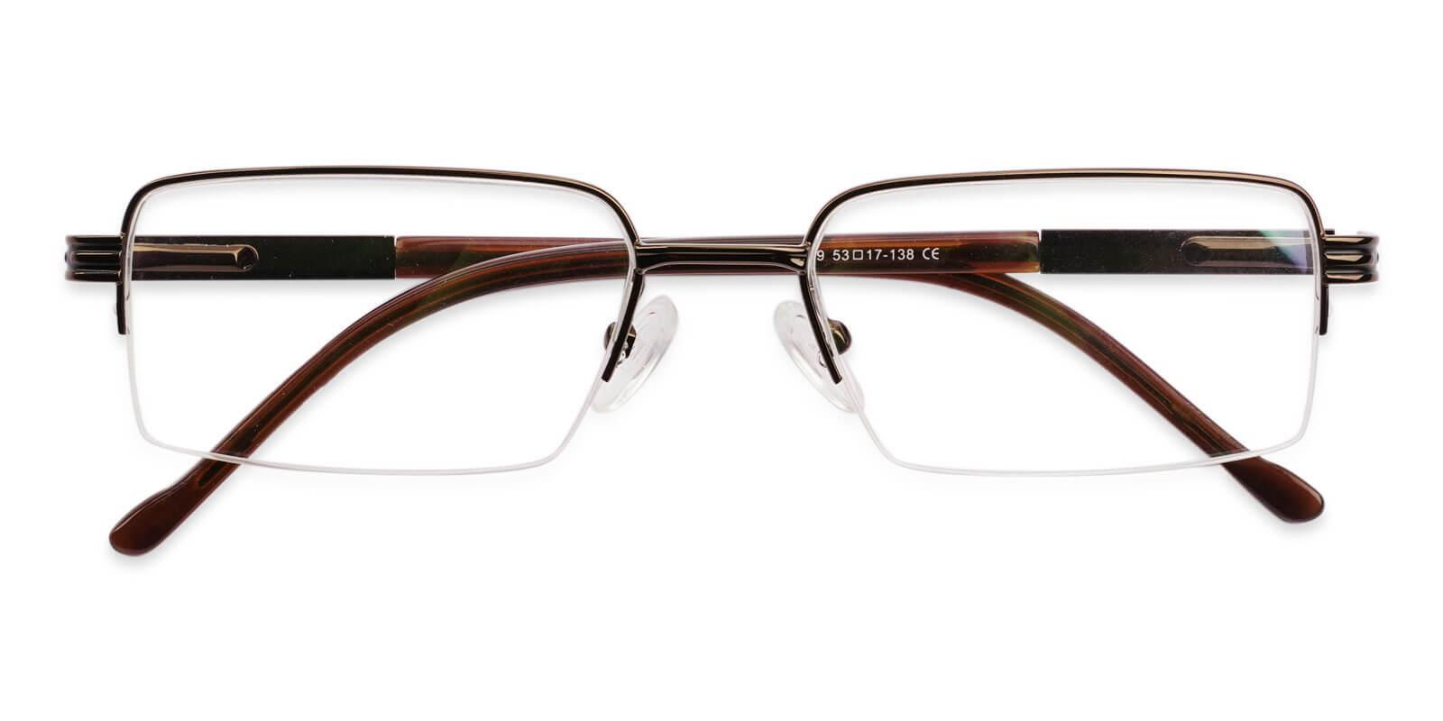 Nicaragua Brown Metal NosePads , SpringHinges , Eyeglasses Frames from ABBE Glasses