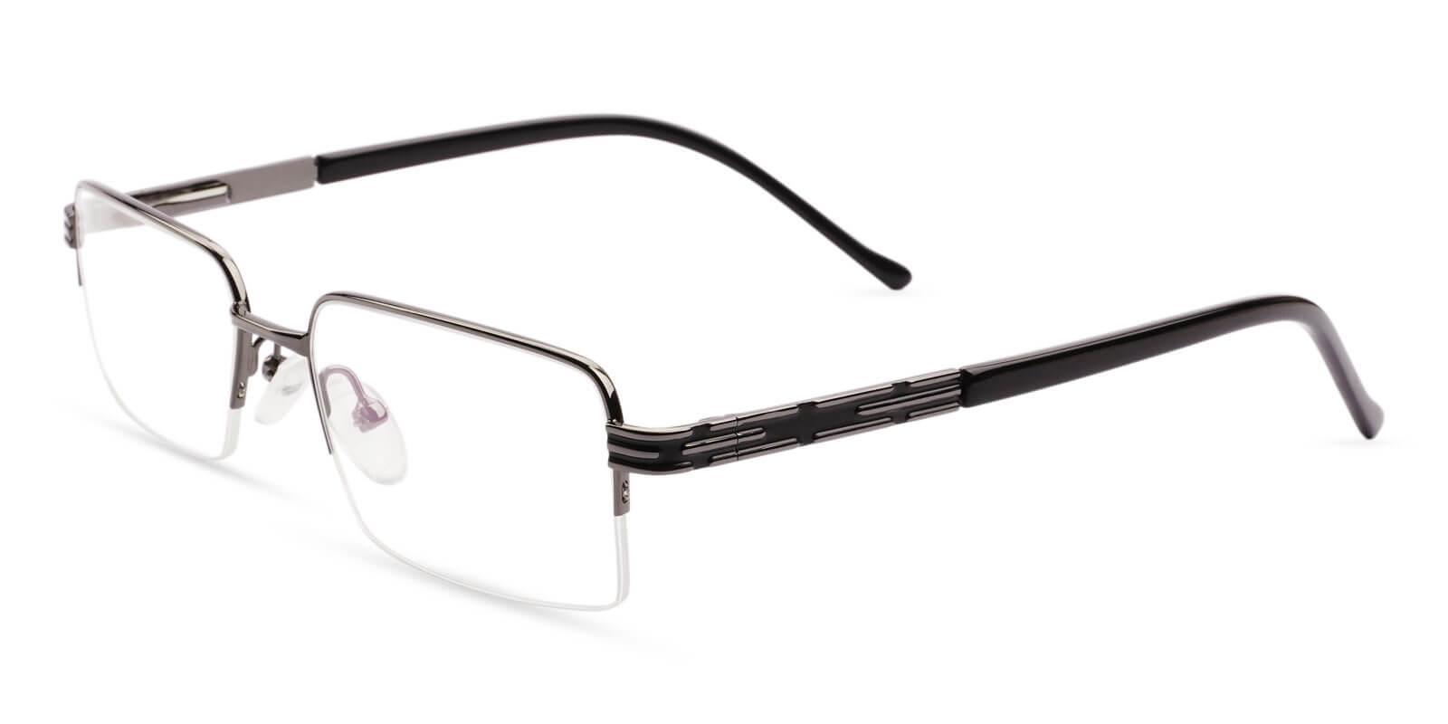 Nicaragua Gun Metal Eyeglasses , NosePads , SpringHinges Frames from ABBE Glasses