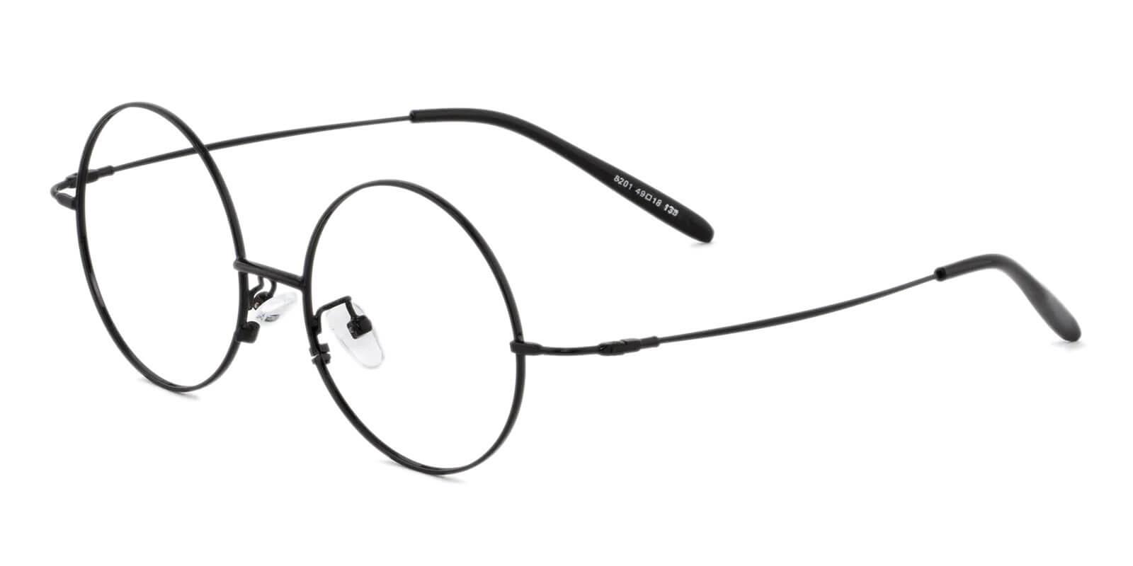 Mali Black Acetate , Metal Eyeglasses , Lightweight , NosePads Frames from ABBE Glasses