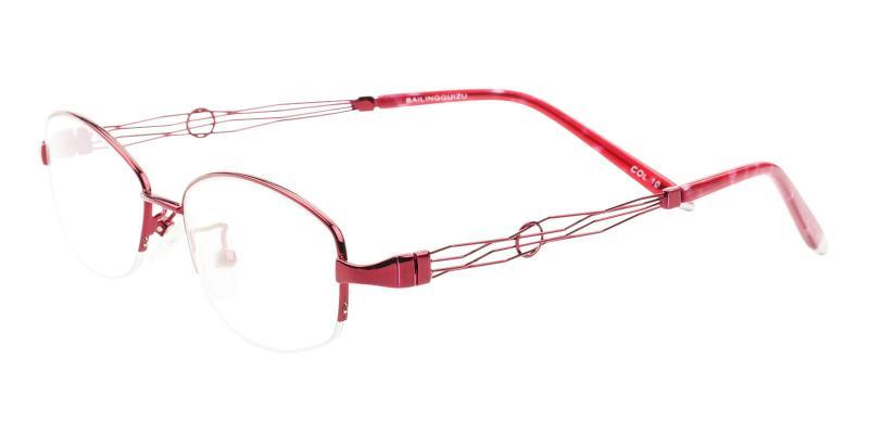 Aaliyah - Metal Eyeglasses , NosePads