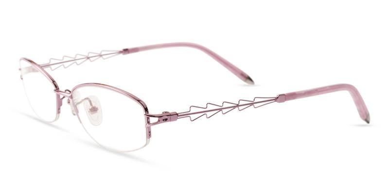 Pink Eleanor - Acetate , Metal Eyeglasses , NosePads