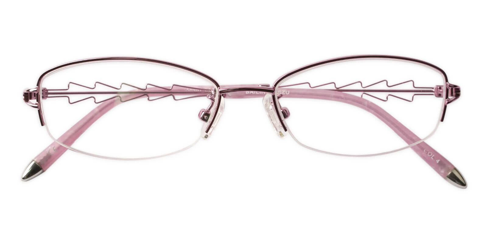 Eleanor Pink Acetate , Metal Eyeglasses , NosePads Frames from ABBE Glasses