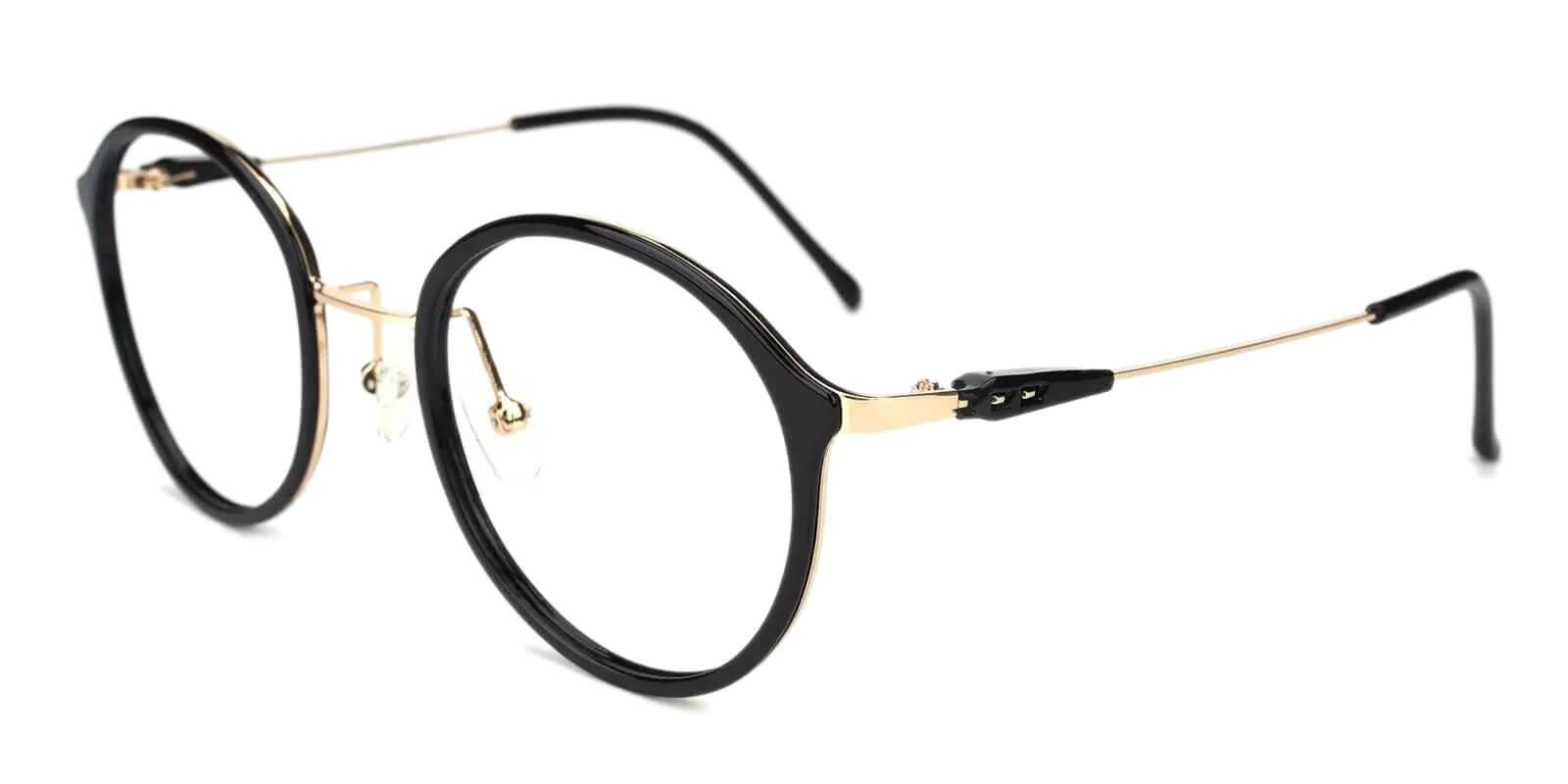 Macau Black Metal , TR Eyeglasses , Lightweight , NosePads Frames from ABBE Glasses
