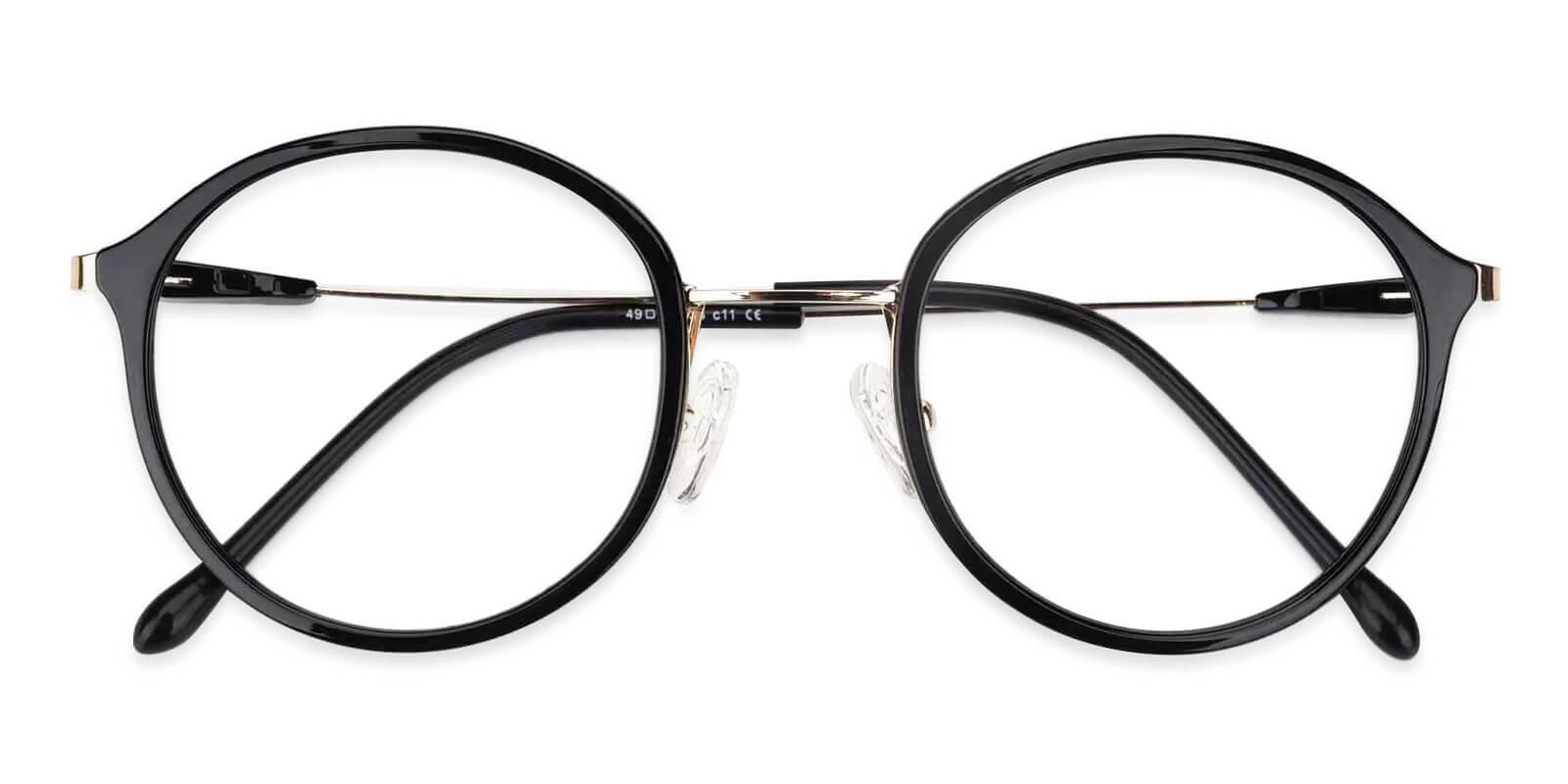 Macau Black Metal , TR Eyeglasses , Lightweight , NosePads Frames from ABBE Glasses