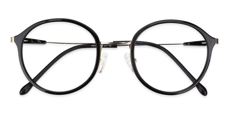 Black Macau - Metal , TR Lightweight , NosePads , Eyeglasses