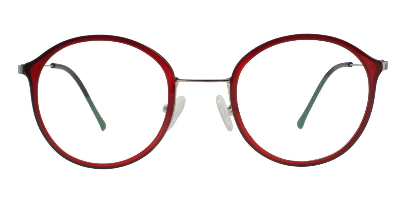 Macau Red Metal , TR Eyeglasses , Lightweight , NosePads Frames from ABBE Glasses