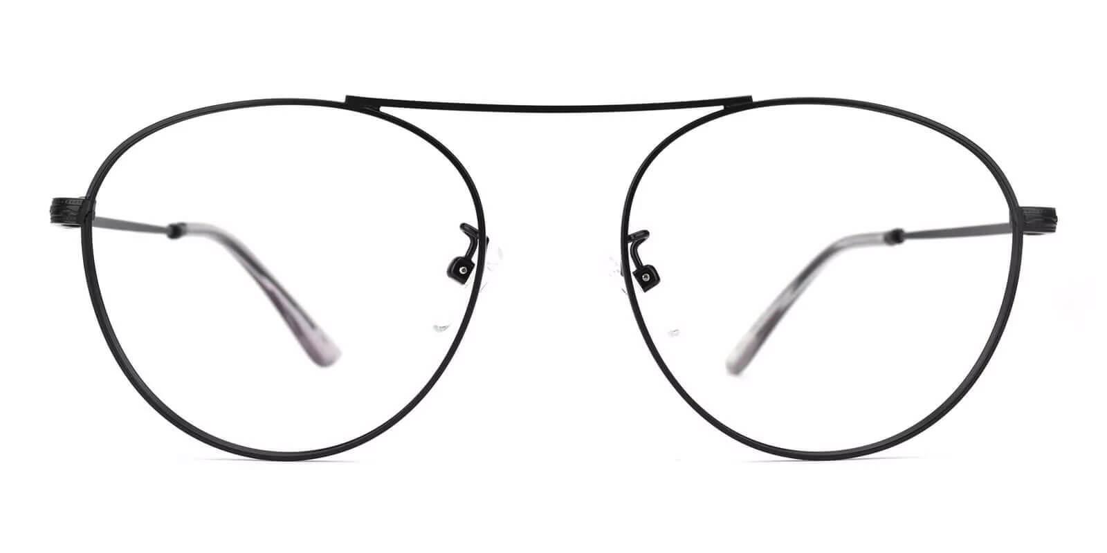 Chloe Black Metal Eyeglasses , NosePads Frames from ABBE Glasses