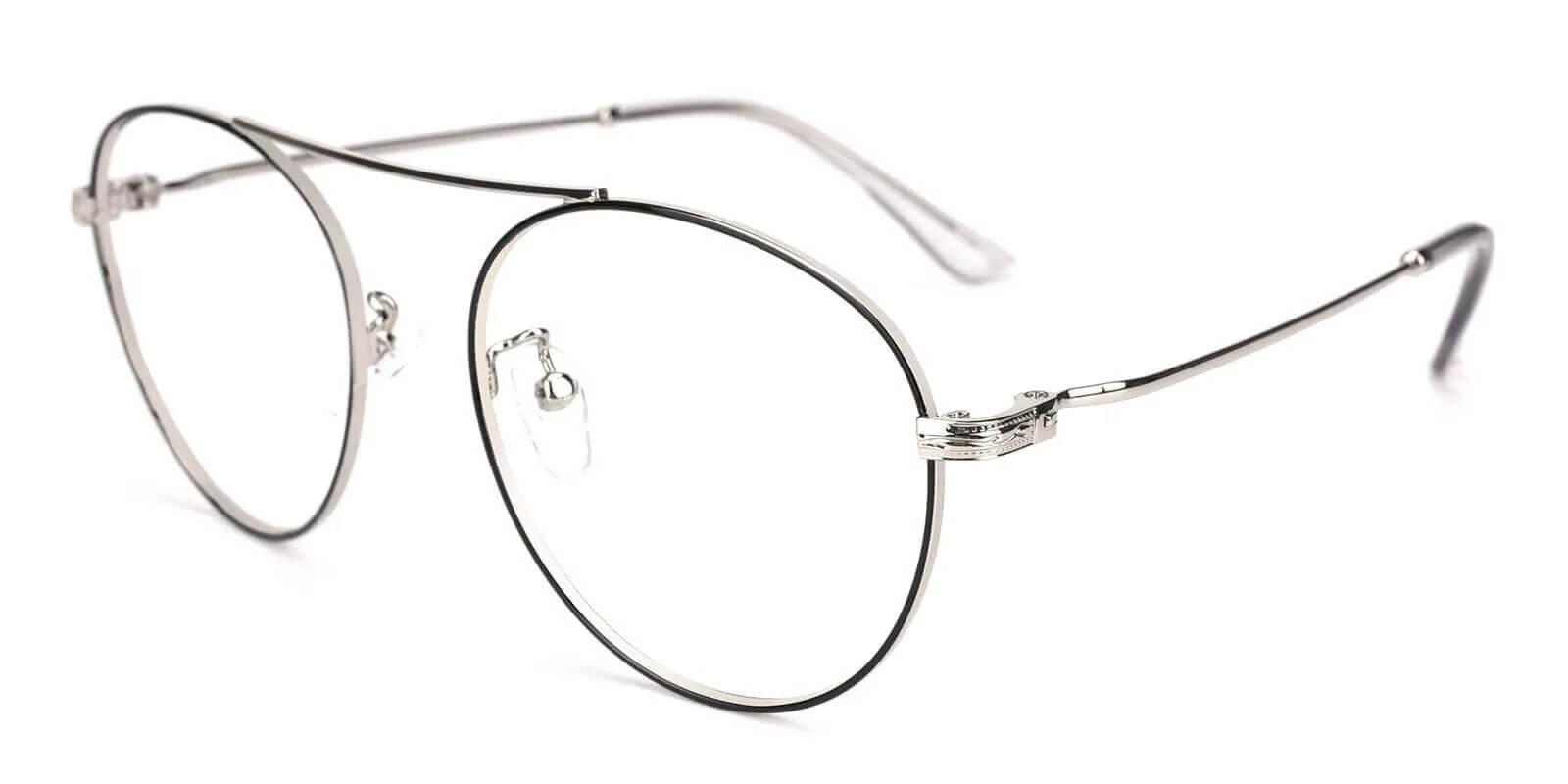 Chloe Silver Metal Eyeglasses , NosePads Frames from ABBE Glasses