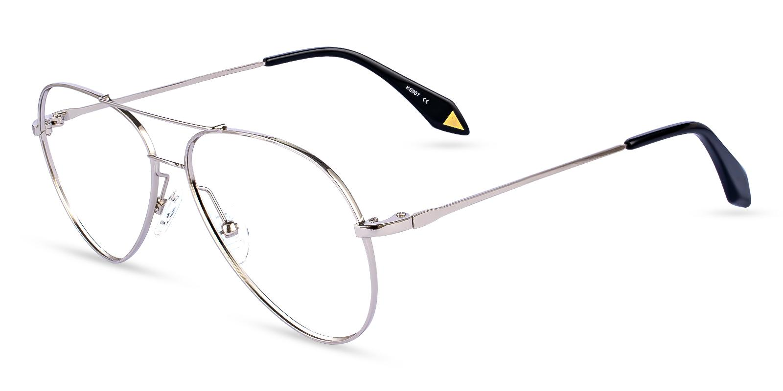 Malawi Silver Metal Eyeglasses , NosePads Frames from ABBE Glasses