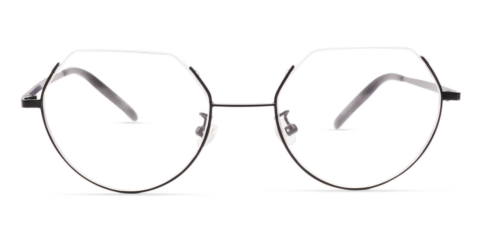 Indonesia Black Metal Eyeglasses , Lightweight , NosePads Frames from ABBE Glasses