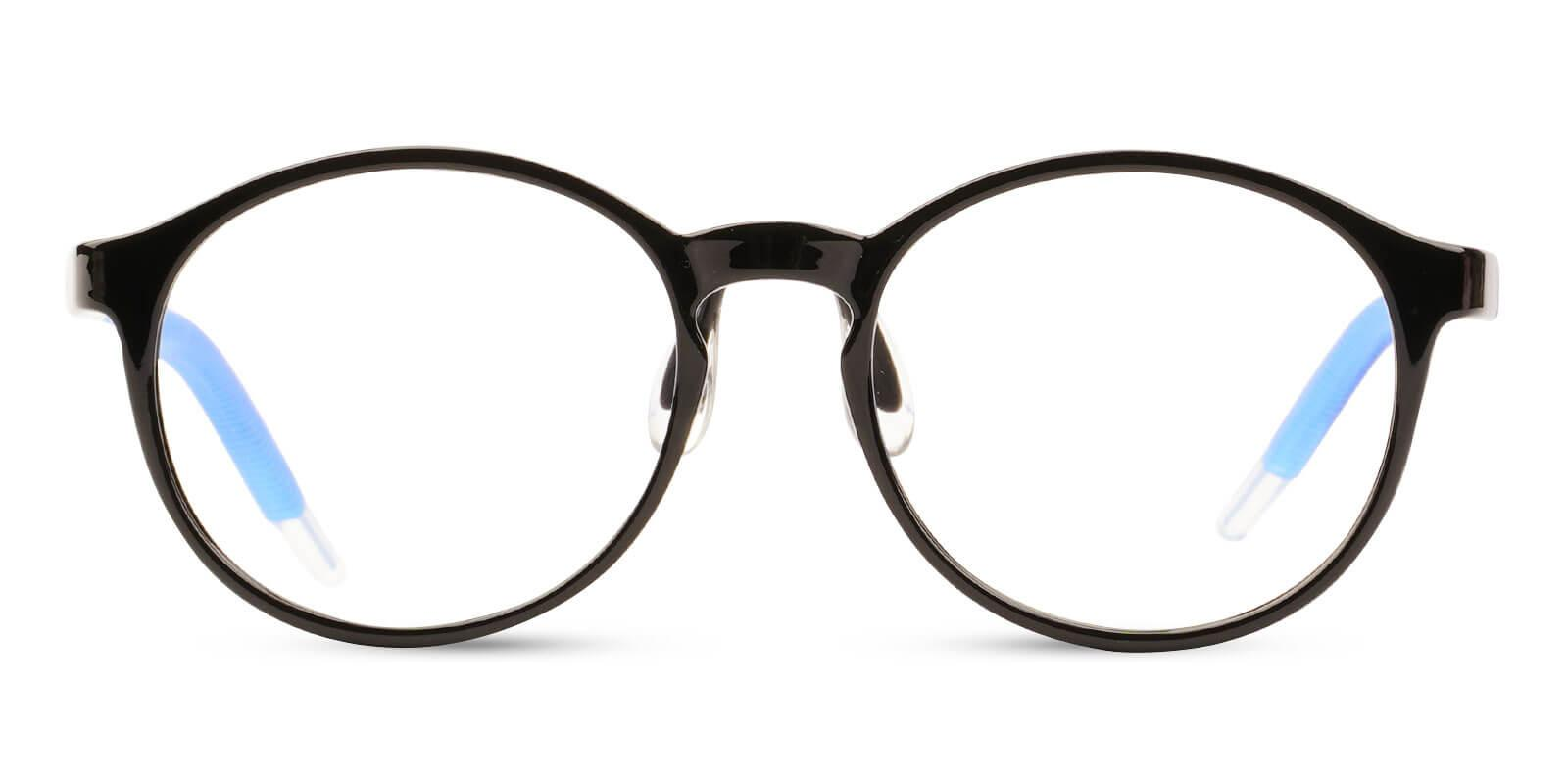 Kids-Latham Black TR Eyeglasses , Lightweight , NosePads Frames from ABBE Glasses