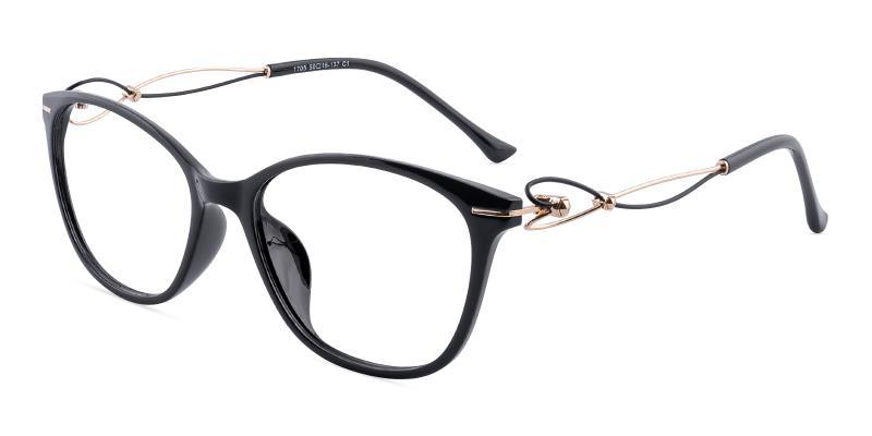 Black Maria - Metal , TR UniversalBridgeFit , Eyeglasses , Lightweight