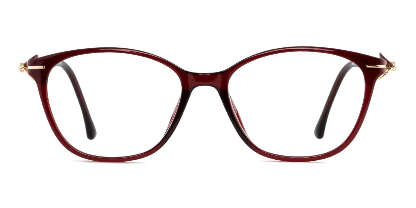 Maria Red Metal , TR UniversalBridgeFit , Eyeglasses , Lightweight Frames from ABBE Glasses