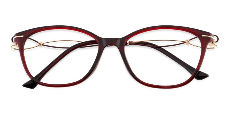 Red Maria - Metal , TR UniversalBridgeFit , Eyeglasses , Lightweight