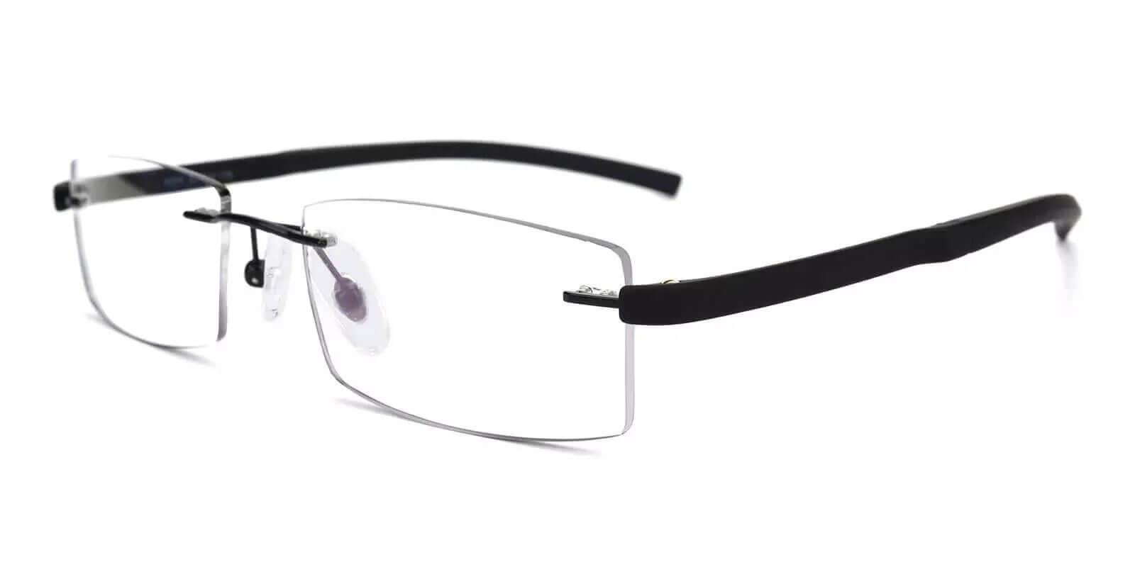 Hudson Black Acetate , Metal , TR Eyeglasses , NosePads Frames from ABBE Glasses