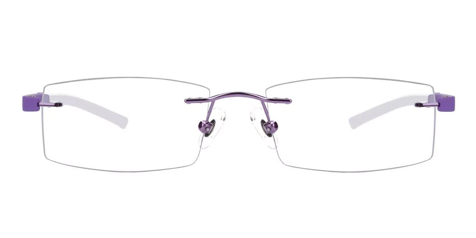 Hudson Purple Acetate , Metal , TR Eyeglasses , NosePads Frames from ABBE Glasses