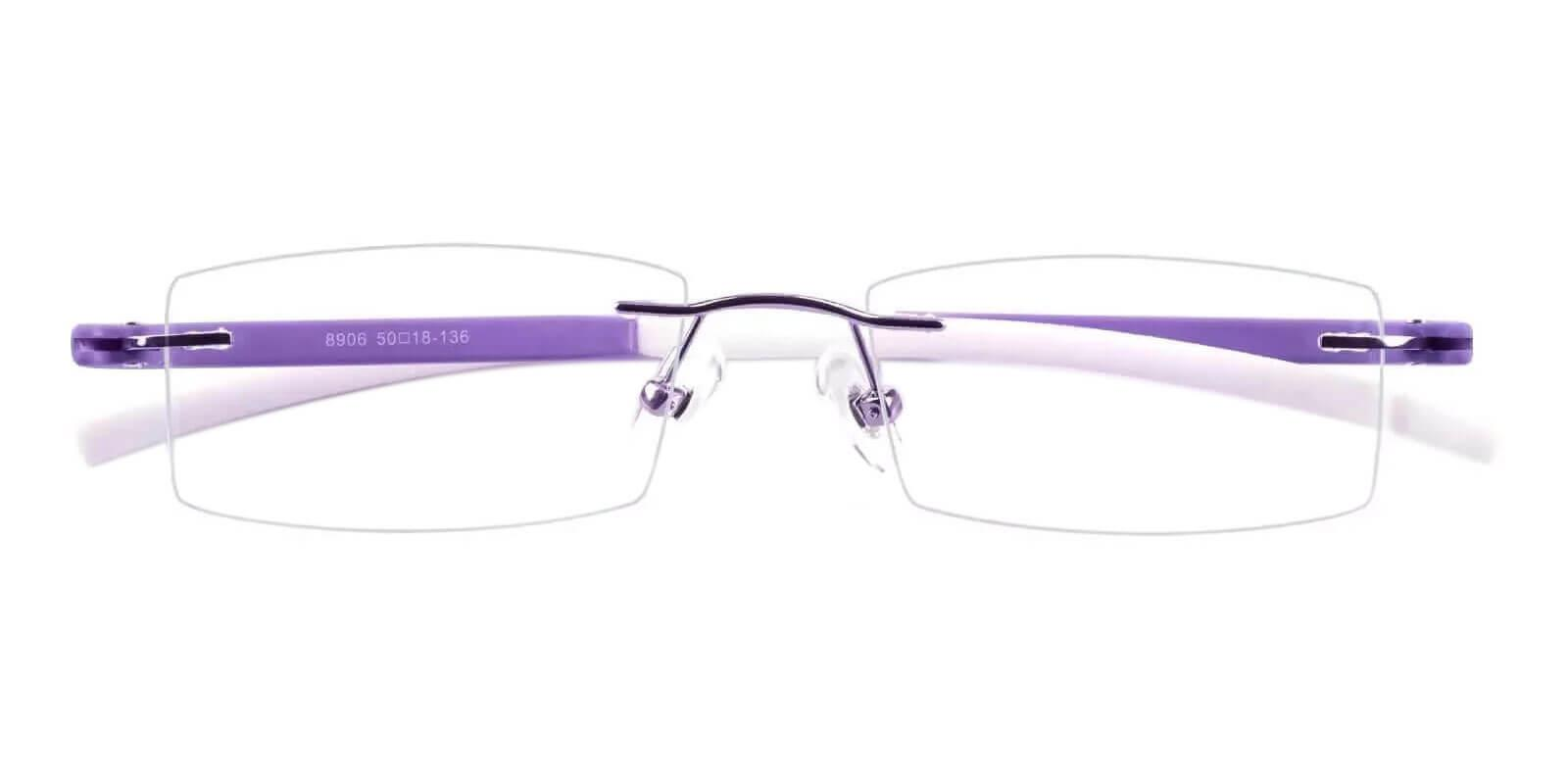 Hudson Purple Acetate , Metal , TR Eyeglasses , NosePads Frames from ABBE Glasses