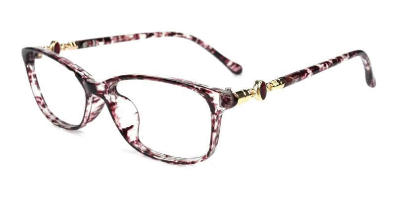 Purple Gianna - Plastic Eyeglasses , UniversalBridgeFit