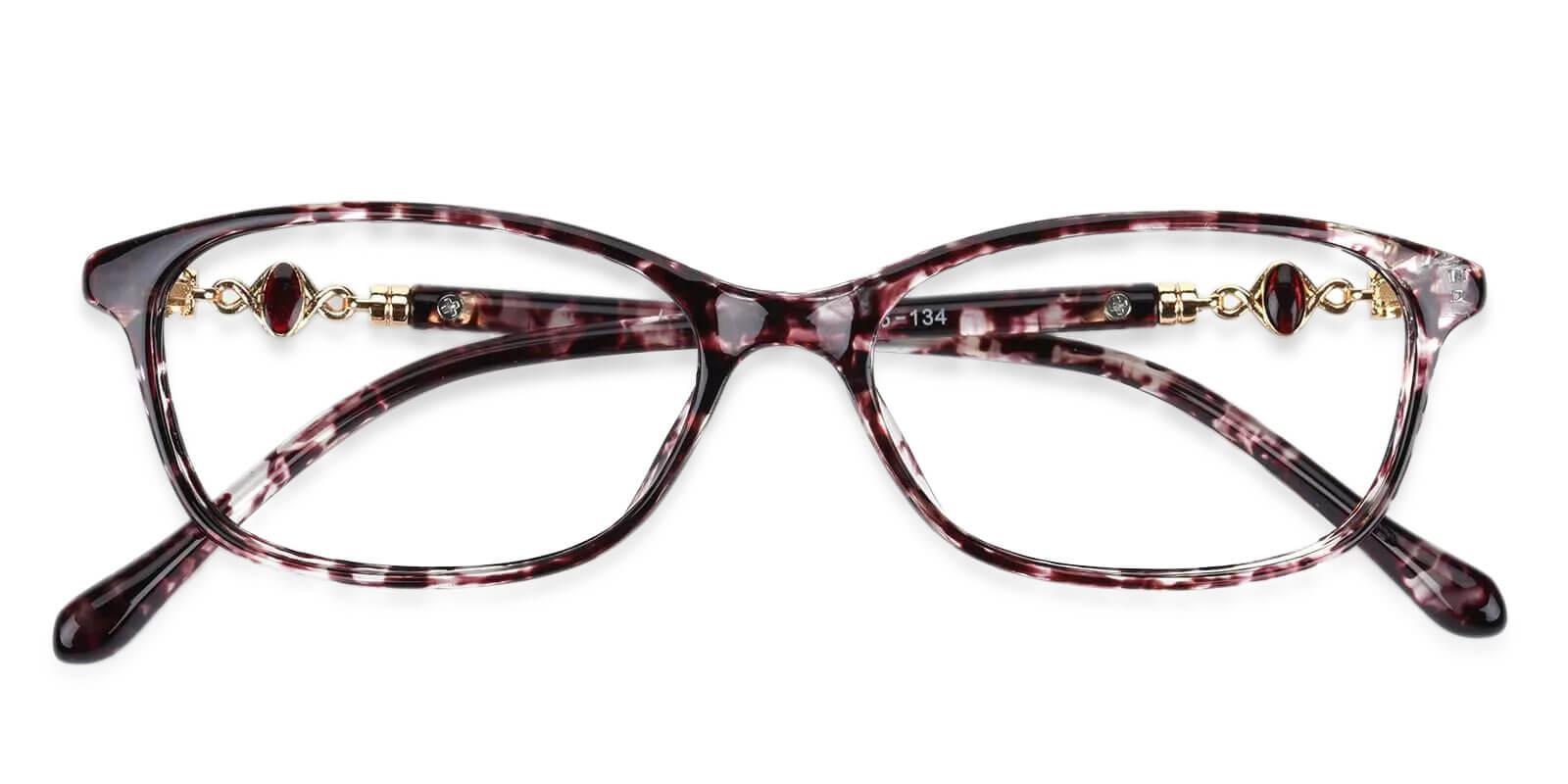 Gianna Purple Plastic Eyeglasses , UniversalBridgeFit Frames from ABBE Glasses