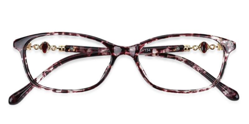 Purple Gianna - Plastic Eyeglasses , UniversalBridgeFit