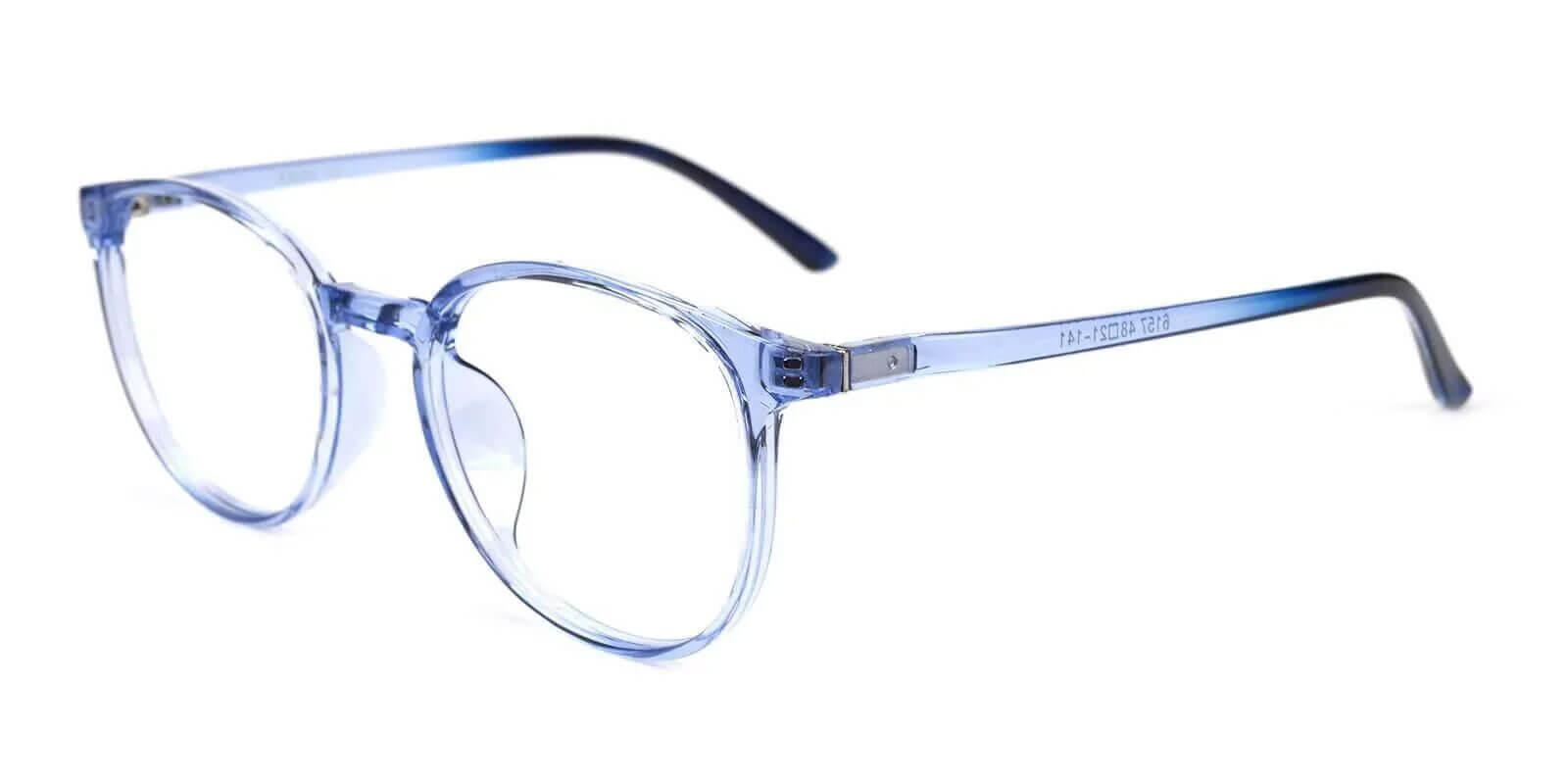Denmark Blue TR Eyeglasses , Lightweight , UniversalBridgeFit Frames from ABBE Glasses