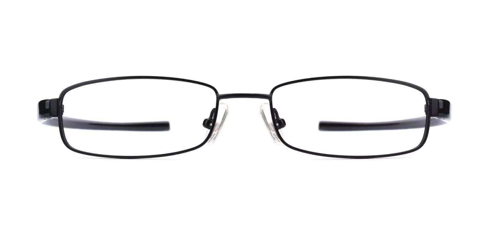 Samuel Black Metal Eyeglasses , Lightweight , NosePads Frames from ABBE Glasses