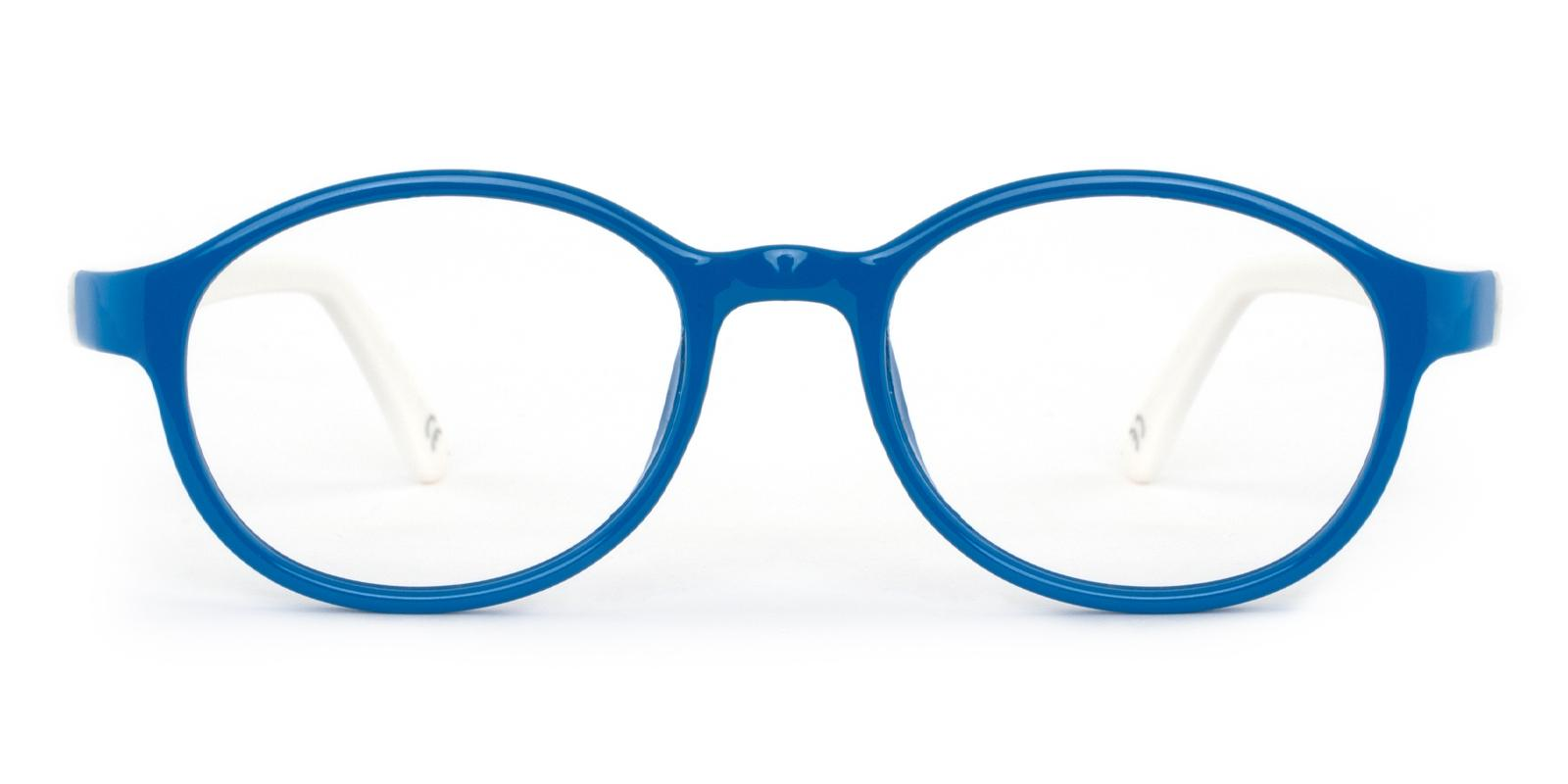 Uruguay Blue Plastic Eyeglasses , Lightweight , UniversalBridgeFit Frames from ABBE Glasses