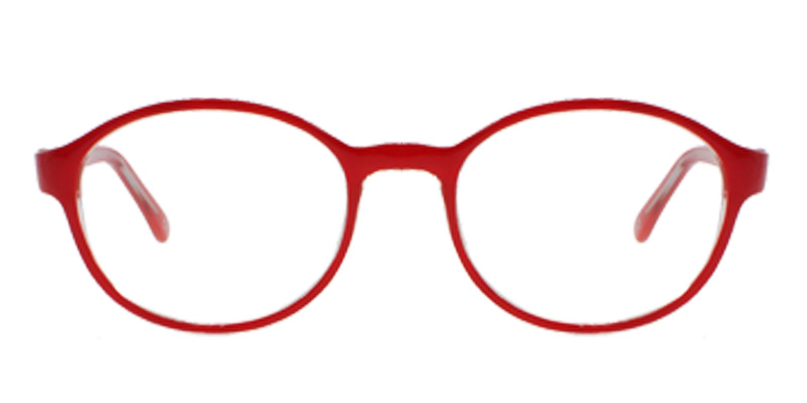 Uruguay Red Plastic Eyeglasses , Lightweight , UniversalBridgeFit Frames from ABBE Glasses