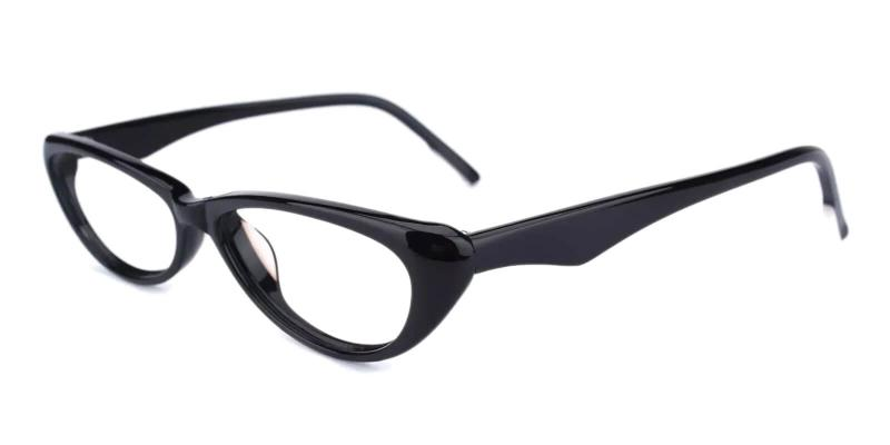Black Nevaeh - Acetate Eyeglasses , UniversalBridgeFit