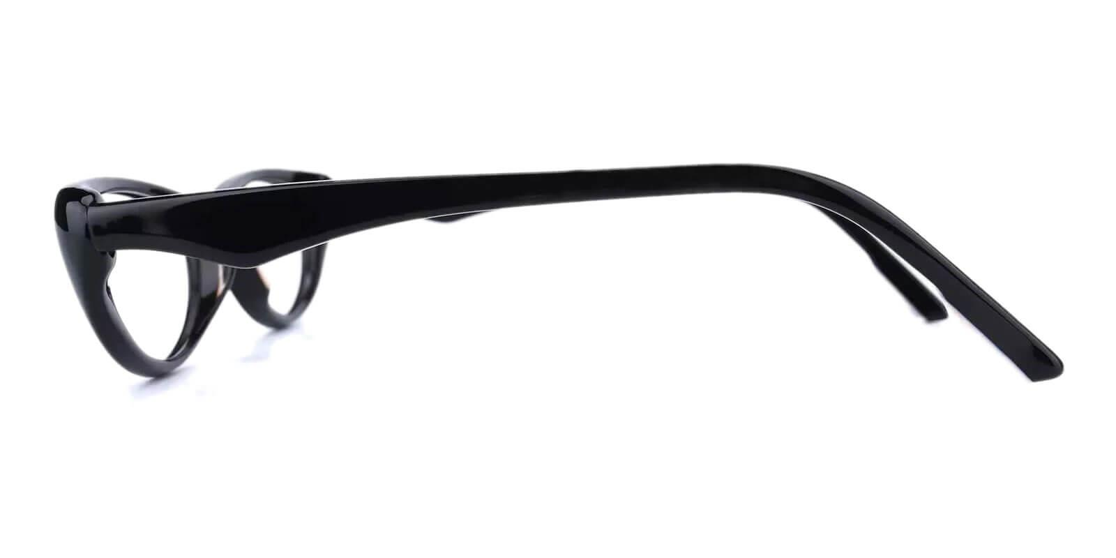 Nevaeh Black Acetate Eyeglasses , UniversalBridgeFit Frames from ABBE Glasses