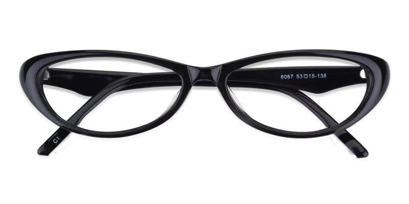 Black Nevaeh - Acetate Eyeglasses , UniversalBridgeFit