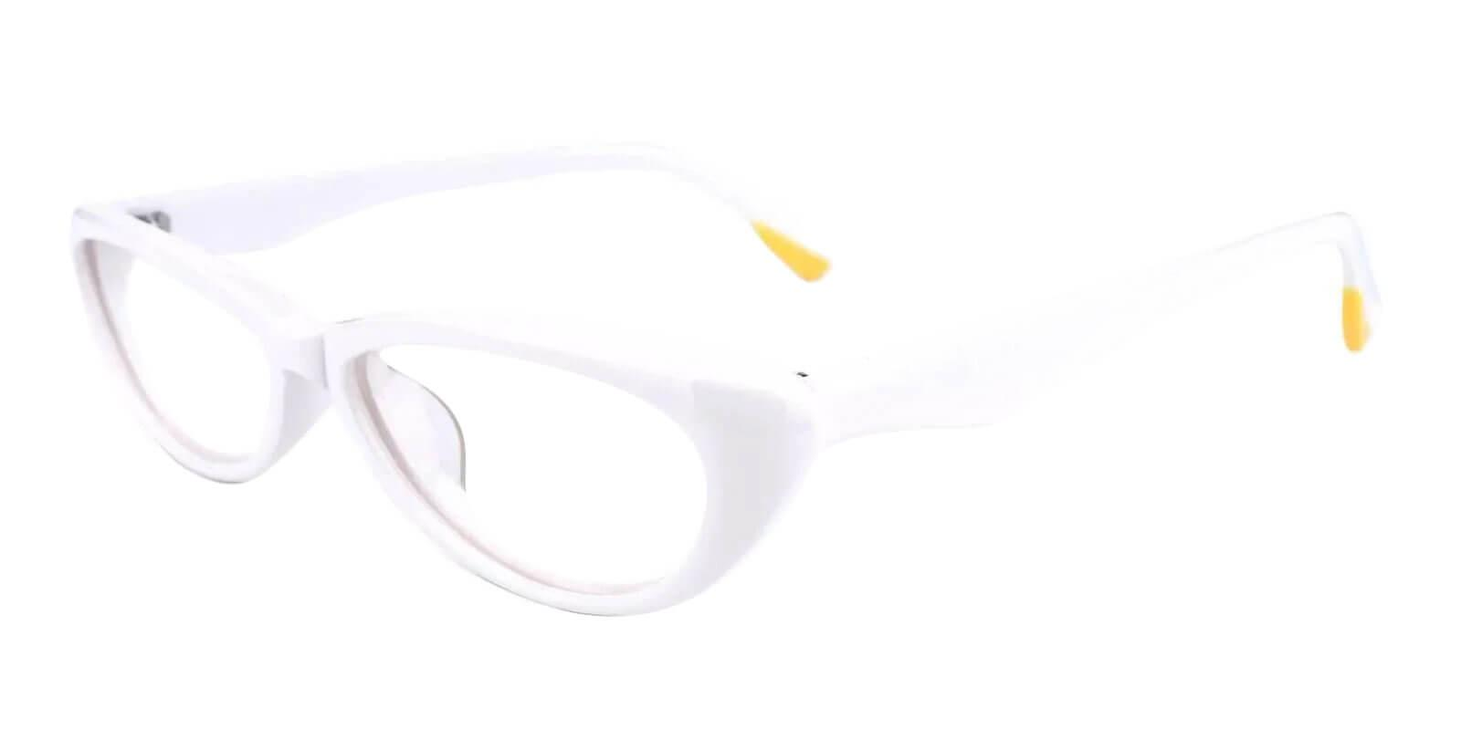 Nevaeh White Acetate Eyeglasses , UniversalBridgeFit Frames from ABBE Glasses