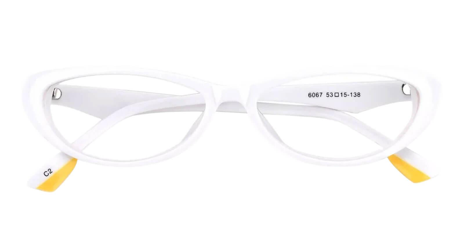 Nevaeh White Acetate Eyeglasses , UniversalBridgeFit Frames from ABBE Glasses