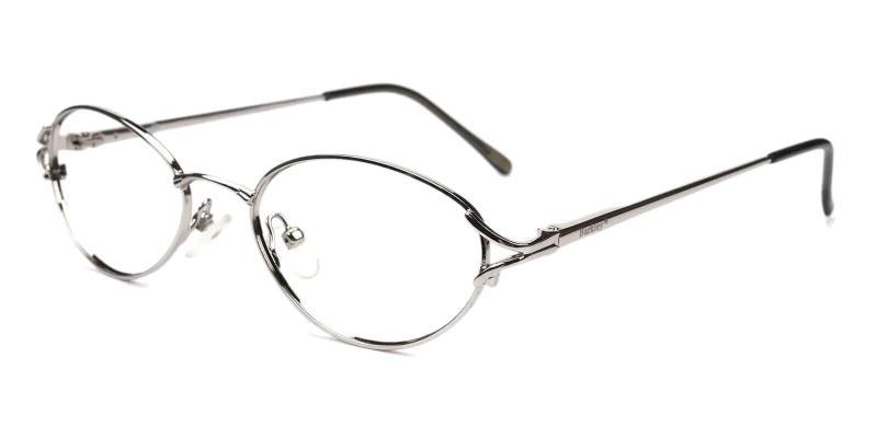 Silver Cora - Metal Eyeglasses , NosePads