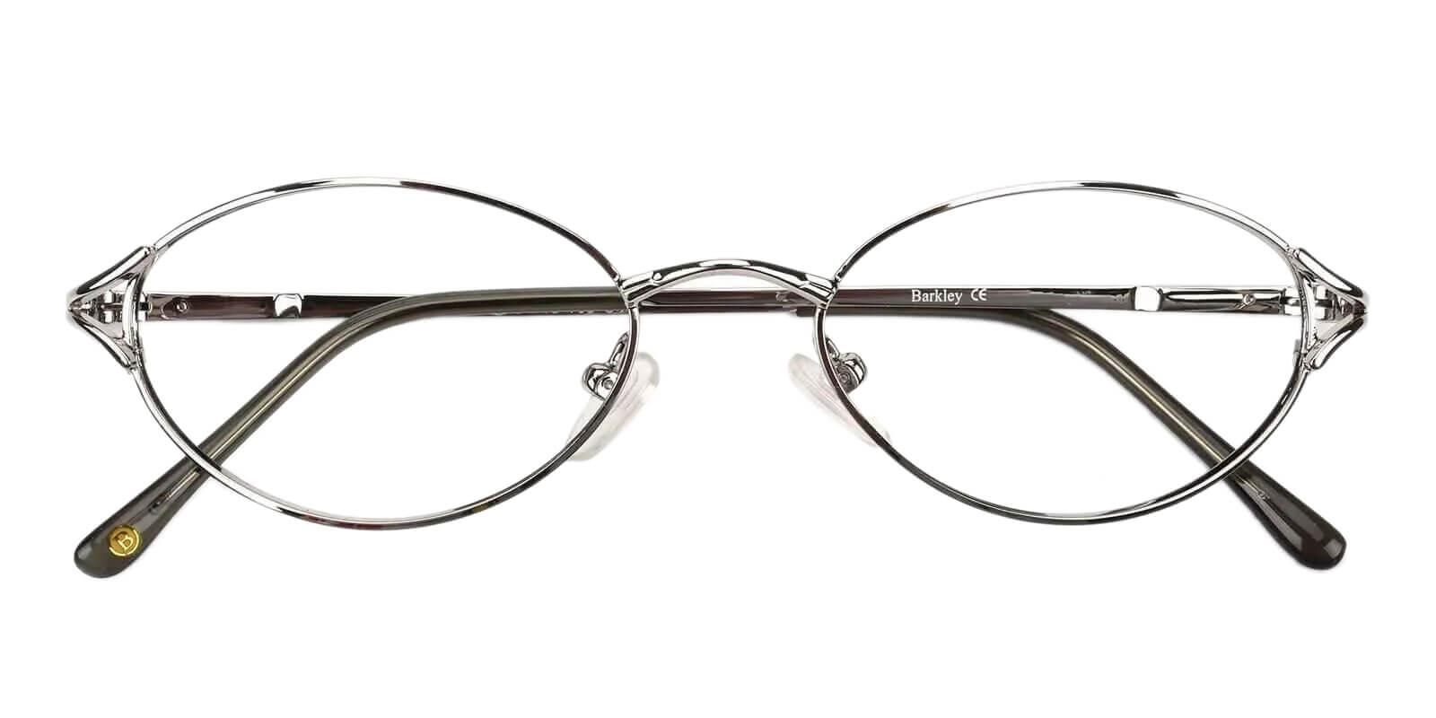 Cora Silver Metal Eyeglasses , NosePads Frames from ABBE Glasses