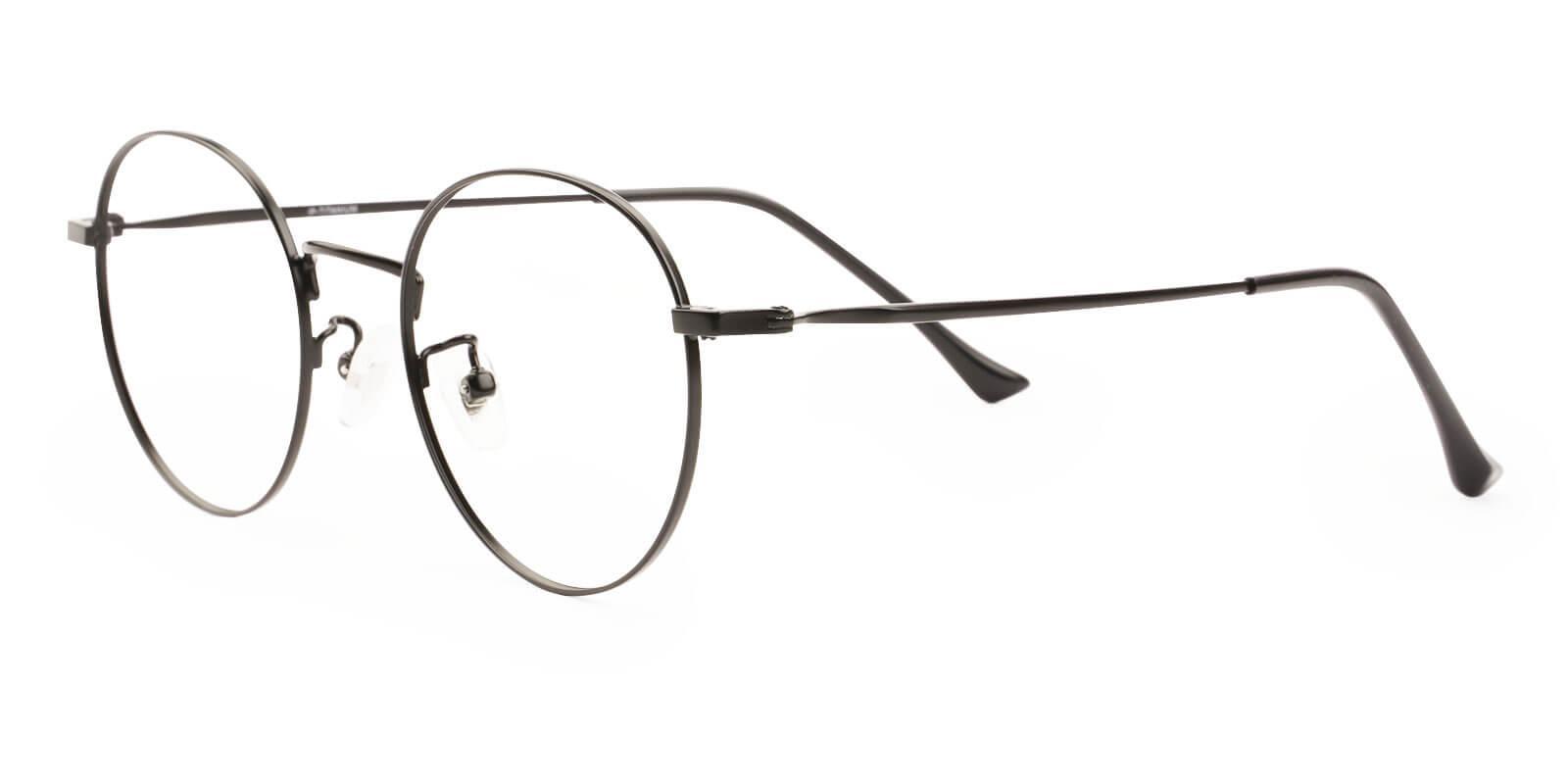 Peyton Black Titanium NosePads , Eyeglasses , Lightweight Frames from ABBE Glasses