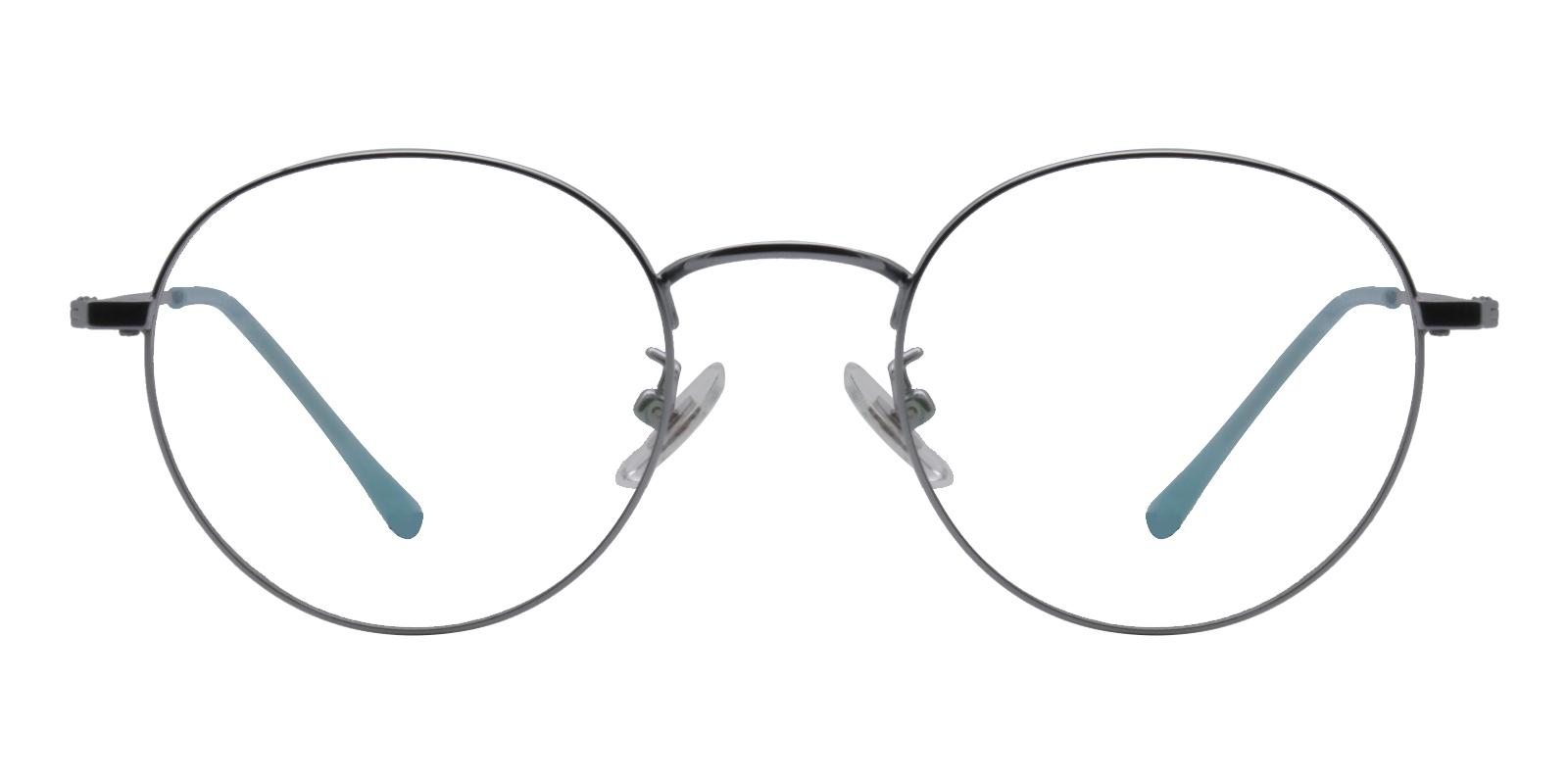 Peyton Blue Titanium NosePads , Eyeglasses , Lightweight Frames from ABBE Glasses