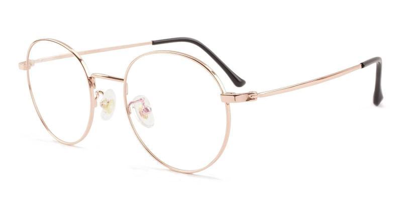 Gold Peyton - Titanium NosePads , Eyeglasses , Lightweight
