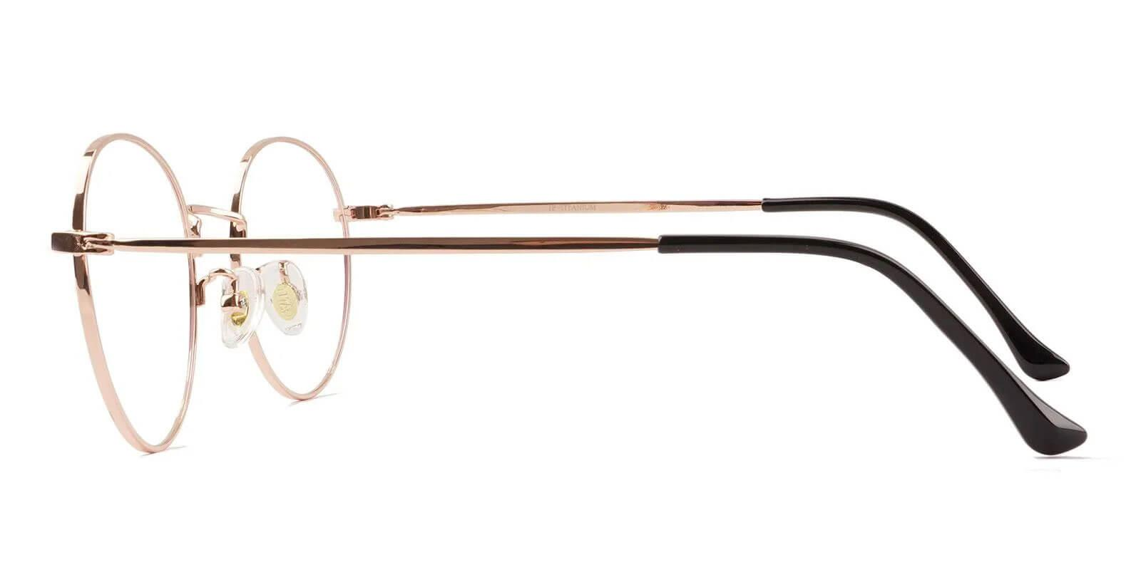 Peyton Gold Titanium Eyeglasses , Lightweight , NosePads Frames from ABBE Glasses