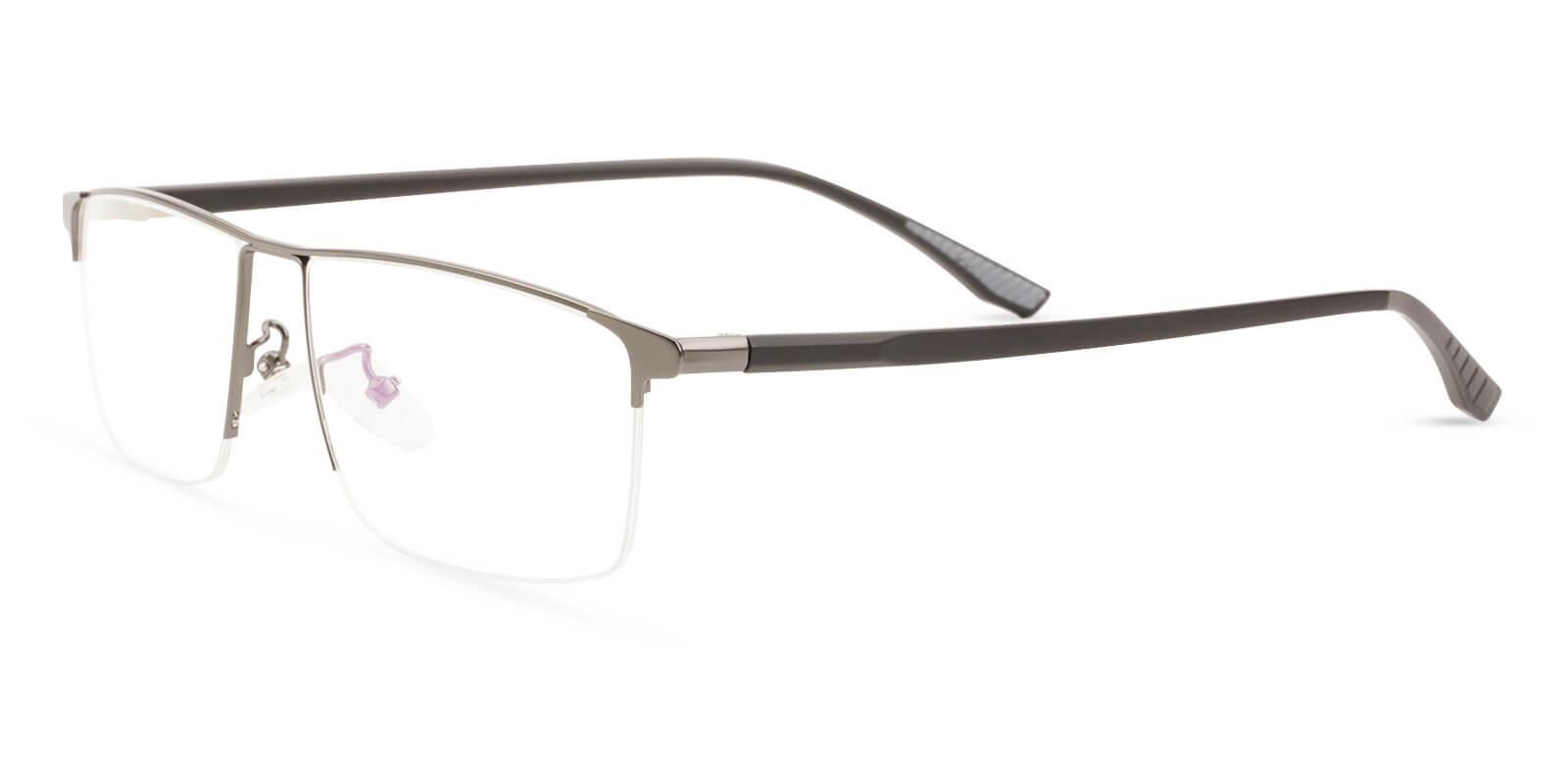 Isaac Gun Metal Eyeglasses , NosePads Frames from ABBE Glasses