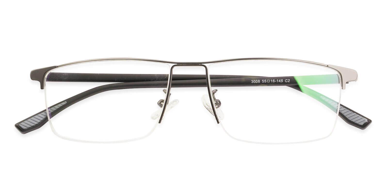Isaac Gun Metal Eyeglasses , NosePads Frames from ABBE Glasses